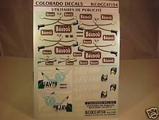 "DECALS 1/43 PUB BOTTES ""BAUDOU"",JAVEL""JAV"" - COLORADO  43154"