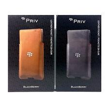 BlackBerry Genuine Leather Pocket Card Sleeve Cover Case for BlackBerry Priv