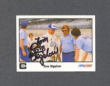 Tom Bigelow signed 1986 Indy Car racing card