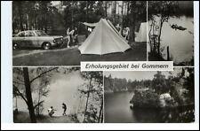 GOMMERN Sachsen-Anhalt DDR Zeltplatz See Auto Leute AK