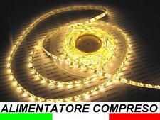 IP65 5m LED TIRA tira IMPERMEABLE impermeable BLANCO CÁLIDO DE EXTERIOR