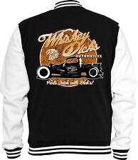 Rockabilly Sweat College Jacke Whiskey Dicks  Hot Rod  Racing Vintage