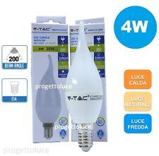 10 LAMPADINE LED E14 FIAMMA 4W V-TAC BULB LAMPADINA LAMPADA COLPO DI VENTO