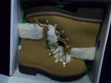 NIB Womens Tommy Hilfiger Ron2 Tan Faux Fur Combat Boots New