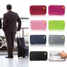 Passport Tickets card Holder Travel Wallet Zipped Bag Document Organiser Voyage