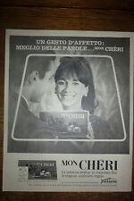 ADVERTISING PUBBLICITA'  MONCHERI FERRERO le deliziose praline    1964