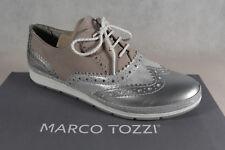 Marco Tozzi Schnürschuhe Sneakers Halbschuhe beige/ silber-metalic 23609 NEU!