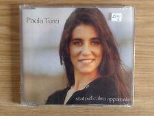 PAOLA TURCI - STATO DI CALMA APPARENTE - RARO CD SINGOLO SIGILLATO (SEALED)