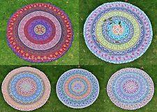 Indian Towel Tapestry Boho Wall Hanging Hippie Mandala Round Roundie Beach Throw