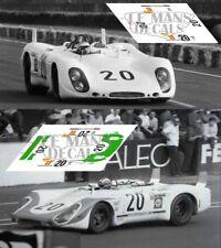 Calcas Porsche 908/02 LH Le Mans 1969 Test 1:32 1:43 1:24 1:18 64 87 slot decals