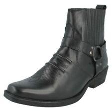 MAVERICK a3003 piel negra hombre estilo vaquero botas