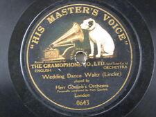 """78 rpm 12"""" HERR GOTTLIEB ORCH wedding dance waltz / the druids prayer MONARCH"""