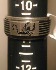 HuntForDeals Stainless Steel Spin Band Ring Scorpion Design