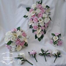 Pink ivory / white wedding flowers Bouquet / Bridal /Bridesmaid / Buttonhole