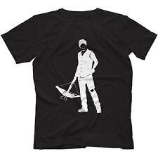 Daryl The Walking Dead Inspirado Camiseta 100% algodón Ballesta el gobernador