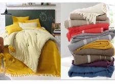 La redoute Fringe Throw Blanket Hand-Woven