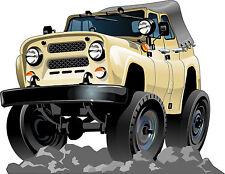 Stickers muraux enfant Jeep réf 3549 (Dimensions de 10cm à 130cm de largeur)