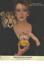"""PUBLICITE ADVERTISING  1983  GUY LAROCHE parfum """" J'AI OSE """""""