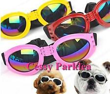 Pet Dog Doggy Sunglasses Toys Eye Wear Goggle Sun Glasses Adjustable Strap OSFA