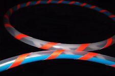 "Rainbow Dragon Polypro MINI Hula HOOPS SET + 2x UV Grip Tape 15""/17""/19"""