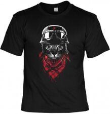 Motorrad Fun T-Shirt Biker Katze Herren Shirts 4 Heroes Geschenk bedruckt