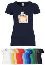 UL50 F288N Damen T-Shirt mit Motiv Parfüm   Party Clubwear Design Freizeitshirt