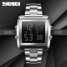 SKMEI Full Steel Sport Wristwatch Men Digital Alarm Countdown LED Watch 1369 17