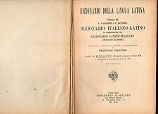 georges-calonghi - dizionario della lingua latina - italiano latino - 1941 -