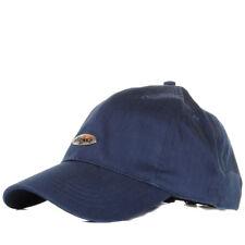 Mens Ellesse Metal Logo Badge Summer Canvas Baseball Cap Adjustable Size
