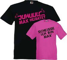 Jga T-Shirts Juhu Scheisse Wunschname Junggesellenabschied Hochzeit Party Herren