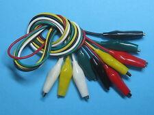 40 pcs Alligator Clip Test Lead Cable 5 colors Lengh 50cm Small 27mm S
