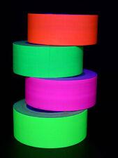 25m 50mm Schwarzlicht Neon Klebeband Rolle Fluo Goa Blacklight