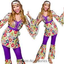 K269 Ladies 60s 70s Go Go Retro Hippie Dancing Groovy Disco Fancy Dress Costume