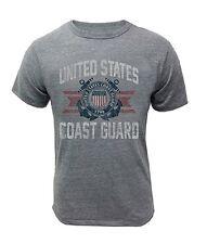US Coast Guard T-shirt Grey Vintage PT DHS Vet Semper Paratus Veteran USCG Seal