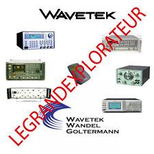 Ultimate Wavetek Wandel Goltermann Operation Repair Service manual    465 on DVD