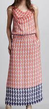 DVF Diane Von Furstenberg LOU LOU Silk Chiffon Long Maxi Dress Slice Coral $498