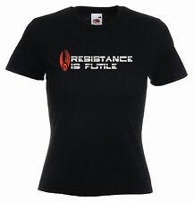 """resistenza è inutile"" Star Trek MOVIE Borg Capt. Piccard Donna Divertente T-Shirt"
