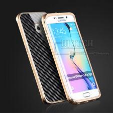 DE LUJO METAL DE ALUMINIO FIBRA DE CARBONO Funda para Samsung Galaxy S6/S6 EDGE