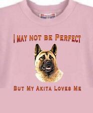 Dog T-Shirt - I May Not Be Perfect But My Akita Loves Me - Adopt Animal Men # 3