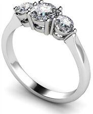 Engagement Ring Diamond Unique Platinum Trilogy 2.20ct Fully UK Hallmarked