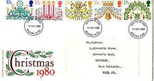 19 NOVEMBER 1980 CHRISTMAS POST OFFICE FIRST DAY COVER BRADFORD FDI