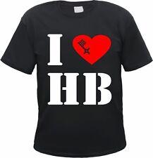 "I LOVE HB / Bremen T-Shirt ""Schlüssel"" - schwarz/weiss/rot - S bis 3XL - ultras"