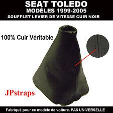 SOUFFLET LEVIER DE VITESSE CUIR NOIR SEAT TOLEDO   1999 - 2005