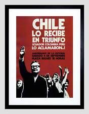 CILE politico Salvador Allende VITTORIA successo Framed Art Print b12x4416