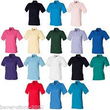Henbury donna maglietta polo taglie forti t-shirt XS S M L XL XXL 3XL