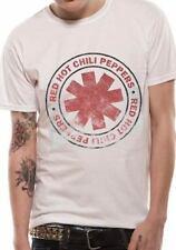 Red Hot Chili Peppers camiseta de estilo vintage con aspecto envejecido con el logotipo oficial Blanco para Hombre Merch