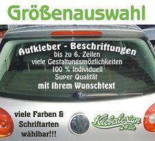 6 Zeilen Aufkleber Beschriftung Größenauswahl Sticker Heckscheibe LkW Auto KfZ