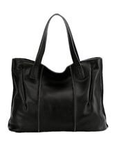 Women Genuine Leather Handbag Ladies Soft Shoulder Bag Large Bucket Tote Bag New