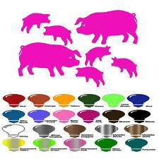 Pig Family Animal Decal Sticker for Auto Car Window Bumper Wall Decor Laptop Art
