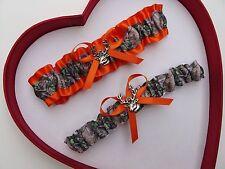 NEW Mossy Oak Camouflage Camo Orange Wedding Garter Prom Hunter Chick Deer